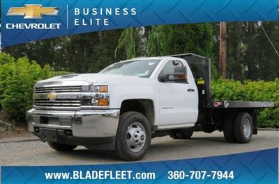 2018 Silverado 3500 Regular Cab DRW 4x2,  Monroe Work-A-Hauler II Platform Body #10860 - photo 1