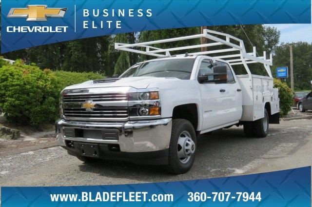 2018 Silverado 3500 Crew Cab DRW 4x4,  Harbor ComboMaster Combo Body #10897 - photo 1