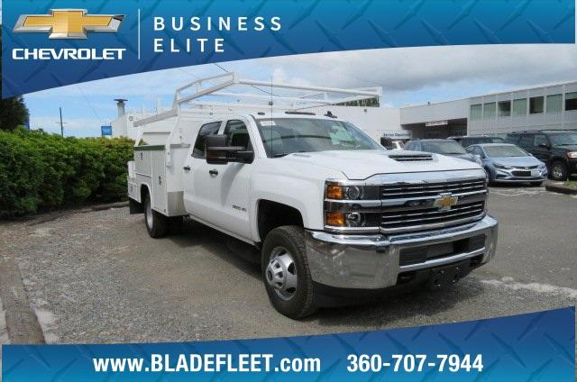 2018 Silverado 3500 Crew Cab DRW 4x4,  Harbor ComboMaster Combo Body #10897 - photo 5