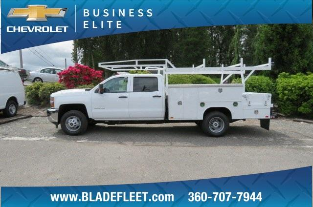 2018 Silverado 3500 Crew Cab DRW 4x4,  Harbor ComboMaster Combo Body #10897 - photo 6