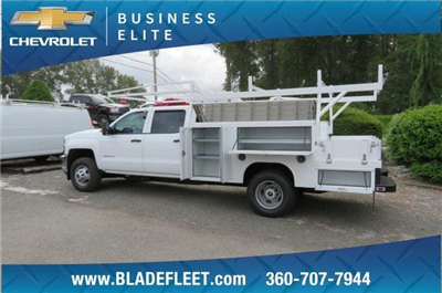 2018 Silverado 3500 Crew Cab DRW 4x4,  Harbor ComboMaster Combo Body #10897 - photo 2