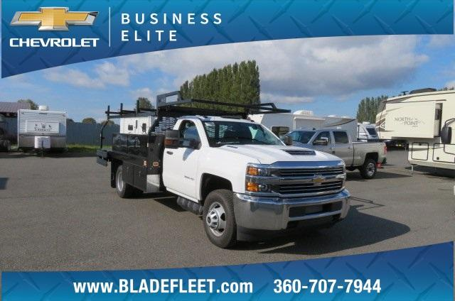 2018 Silverado 3500 Regular Cab DRW 4x4,  Knapheide Contractor Body #11277 - photo 20