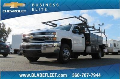 2018 Silverado 3500 Regular Cab DRW 4x4,  Knapheide Contractor Body #11277 - photo 1