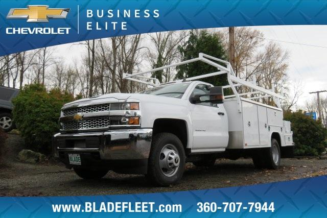 2019 Silverado 3500 Regular Cab DRW 4x4,  Harbor ComboMaster Combo Body #11469 - photo 3