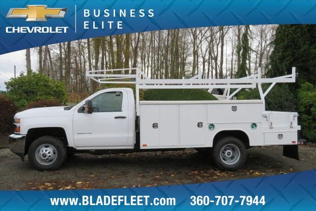 2019 Silverado 3500 Regular Cab DRW 4x4,  Harbor ComboMaster Combo Body #11469 - photo 2