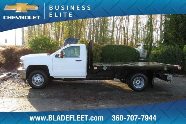 2018 Silverado 3500 Regular Cab DRW 4x4,  Knapheide Platform Body #11478 - photo 3