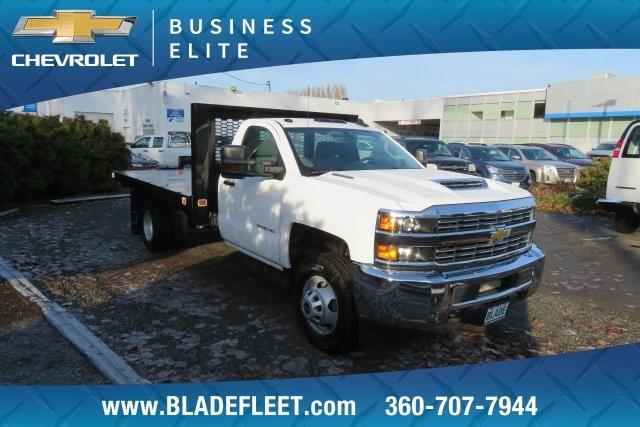 2018 Silverado 3500 Regular Cab DRW 4x4,  Knapheide Platform Body #11478 - photo 10