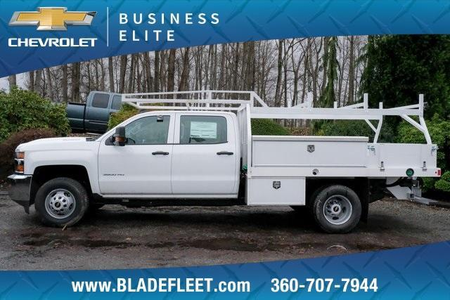 2019 Silverado 3500 Crew Cab DRW 4x2,  Harbor Standard Contractor Body #11569 - photo 1