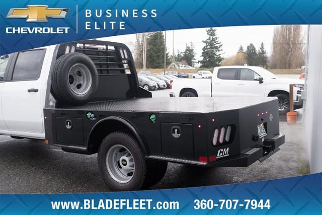 2021 Chevrolet Silverado 3500 Crew Cab 4x4, CM Truck Beds Platform Body #13603 - photo 1