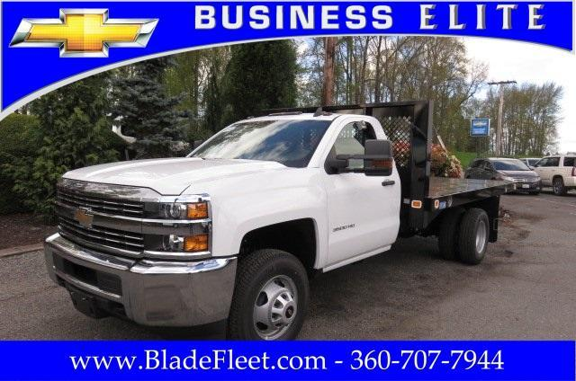 2017 Silverado 3500 Regular Cab DRW, Knapheide Value-Master X Platform Body #9456 - photo 1