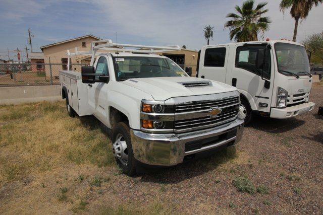 2018 Silverado 3500 Regular Cab DRW 4x4,  Monroe MSS II Deluxe Service Body #82722 - photo 5