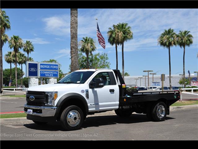2017 F-450 Regular Cab DRW 4x4, Hillsboro GII Steel Platform Body #17P247 - photo 1