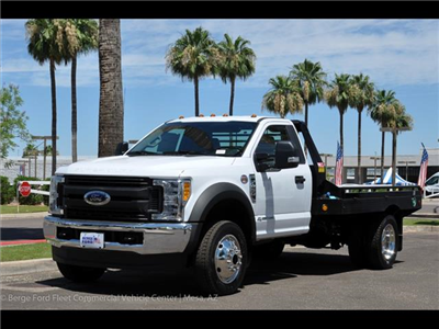 2017 F-450 Regular Cab DRW 4x4, Hillsboro GII Steel Platform Body #17P247 - photo 6