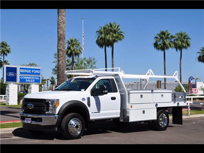 2017 F-450 Regular Cab DRW 4x4, Scelzi Contractor Body #17P339 - photo 1