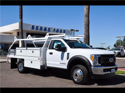 2017 F-450 Regular Cab DRW 4x4, Scelzi Contractor Body #17P339 - photo 7