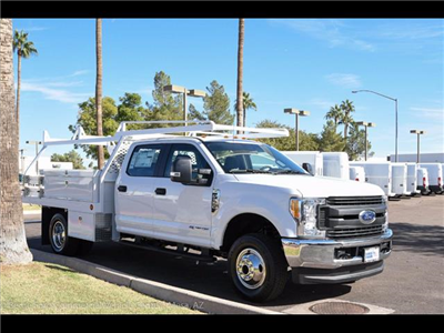 2017 F-350 Crew Cab DRW 4x4, Scelzi Contractor Flatbed Contractor Body #17P618 - photo 10