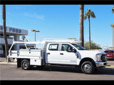 2017 F-350 Crew Cab DRW 4x4, Scelzi Contractor Flatbed Contractor Body #17P618 - photo 13