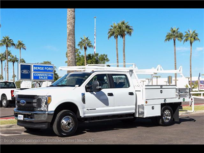 2017 F-350 Crew Cab DRW 4x4, Scelzi Contractor Flatbed Contractor Body #17P618 - photo 1