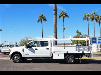 2017 F-350 Crew Cab DRW 4x4, Scelzi Contractor Flatbed Contractor Body #17P618 - photo 4
