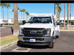 2017 F-350 Crew Cab DRW 4x4, Scelzi Contractor Flatbed Contractor Body #17P618 - photo 9