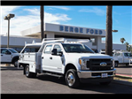 2017 F-350 Crew Cab DRW 4x4, Scelzi Contractor Flatbed Contractor Body #17P618 - photo 12