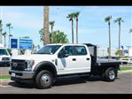 2018 F-450 Crew Cab DRW 4x4,  Monroe Work-A-Hauler II Platform Body #18P327 - photo 1