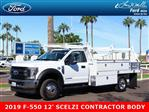 2019 F-550 Regular Cab DRW 4x4,  Scelzi Contractor Body #19P064 - photo 1