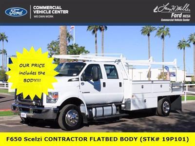 2019 F-650 Crew Cab DRW 4x2, Scelzi CTFB Contractor Body #19P101 - photo 1