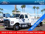 2019 F-650 Crew Cab DRW 4x2,  Scelzi Contractor Body #19P103 - photo 1