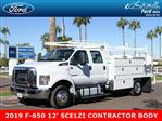 2019 F-650 Crew Cab DRW 4x2,  Scelzi Contractor Body #19P104 - photo 1