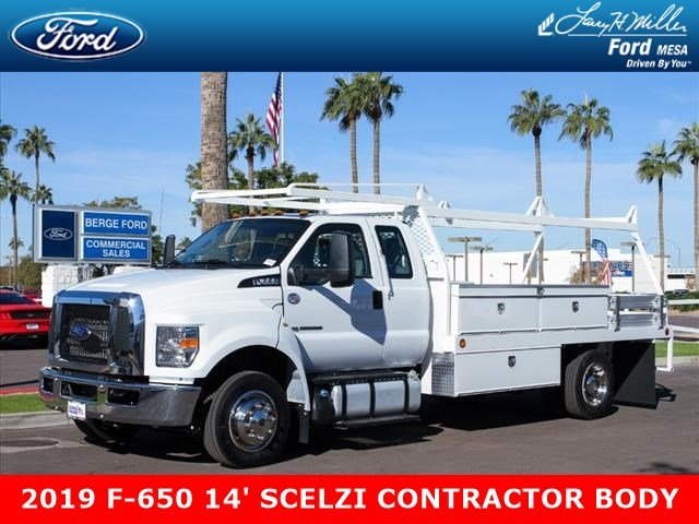 2019 F-650 Super Cab DRW 4x2,  Scelzi CTFB Contractor Body #19P127 - photo 1
