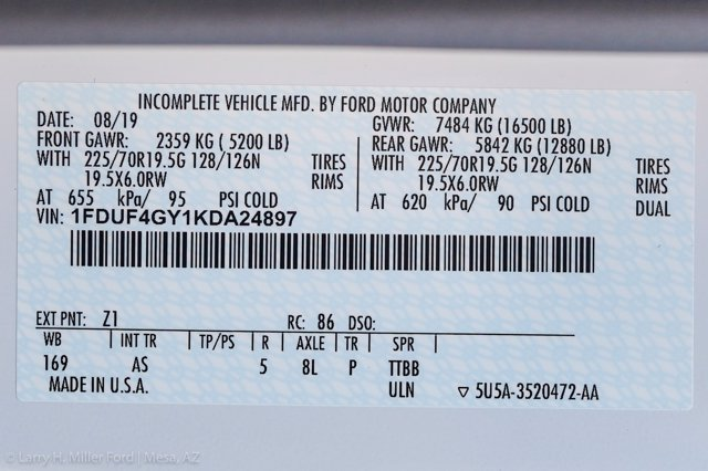 2019 Ford F-450 Regular Cab DRW 4x2, Monroe MSS II Service Body #19P775 - photo 25