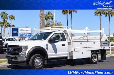 2020 Ford F-450 Regular Cab DRW 4x2, Scelzi CTFB Contractor Body #20P154 - photo 1