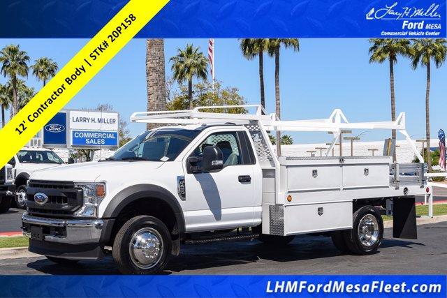 2020 Ford F-450 Regular Cab DRW 4x2, Scelzi CTFB Contractor Body #20P158 - photo 1