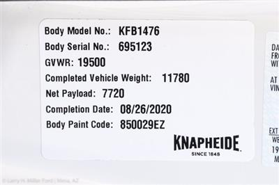 2020 Ford F-550 Super Cab DRW 4x2, Knapheide Standard Forestry Chipper Body #20P288 - photo 29