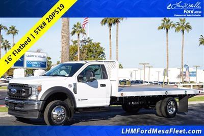 2020 Ford F-550 Regular Cab DRW 4x2, Scelzi SFB Platform Body #20P519 - photo 1