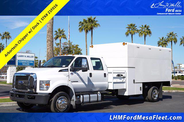 2021 Ford F-650 Crew Cab DRW 4x2, Arbortech Chipper Body #21F016 - photo 1