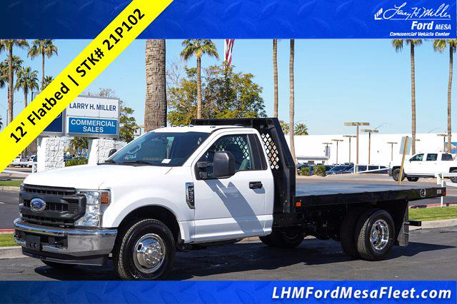 2021 Ford F-350 Regular Cab DRW 4x2, Rugby HD Rancher Platform Body #21P102 - photo 1