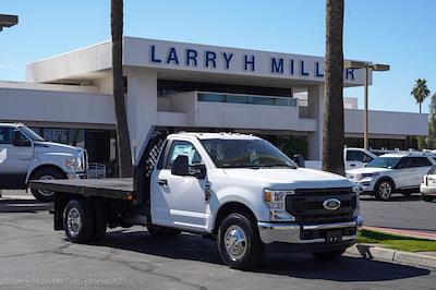 2021 Ford F-350 Regular Cab DRW 4x2, Rugby HD Rancher Platform Body #21P102 - photo 12