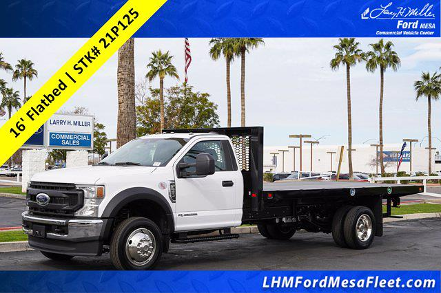 2021 Ford F-550 Regular Cab DRW 4x2, Knapheide Value-Master X Platform Body #21P125 - photo 1