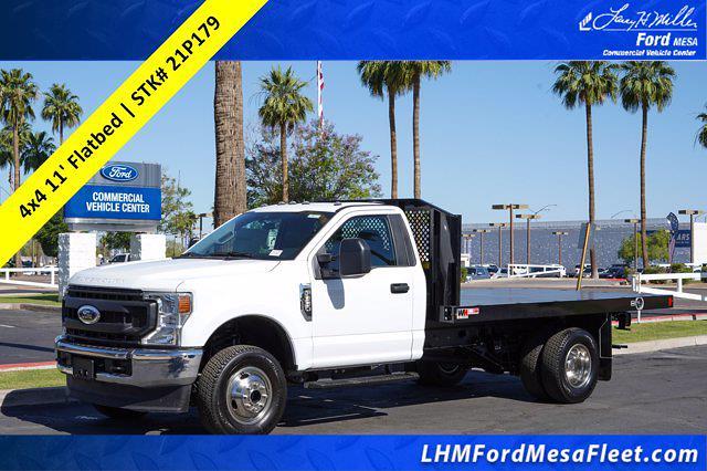 2021 Ford F-350 Regular Cab DRW 4x4, Monroe Work-A-Hauler II Platform Body #21P179 - photo 1