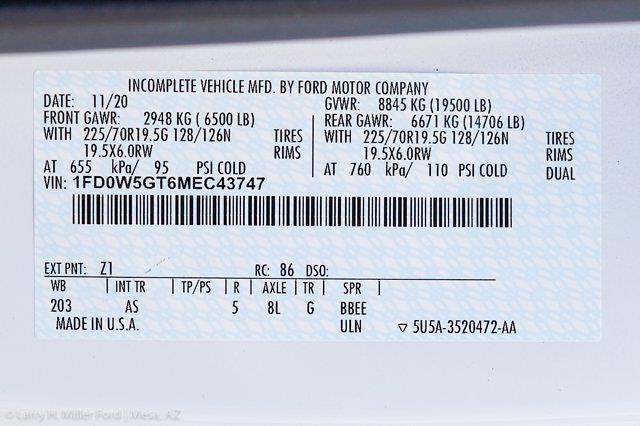 2021 Ford F-550 Crew Cab DRW 4x2, Scelzi CTFB Contractor Body #21P180 - photo 28