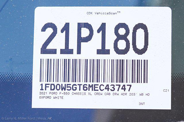 2021 Ford F-550 Crew Cab DRW 4x2, Scelzi CTFB Contractor Body #21P180 - photo 29
