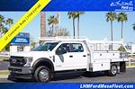 2021 Ford F-550 Crew Cab DRW 4x2, Scelzi CTFB Contractor Body #21P180 - photo 1