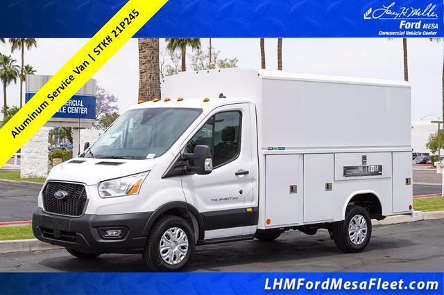 2021 Ford Transit 350 4x2, Reading Aluminum CSV Service Utility Van #21P245 - photo 1