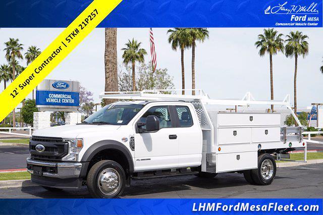2021 Ford F-450 Super Cab DRW 4x2, Scelzi SCTFB Contractor Body #21P257 - photo 1