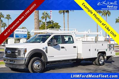 2021 Ford F-550 Crew Cab DRW 4x4, Scelzi CTFB Contractor Body #21P272 - photo 1