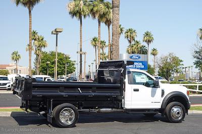 2021 Ford F-550 Regular Cab DRW 4x4, Rugby Eliminator LP Steel Dump Body #21P368 - photo 10