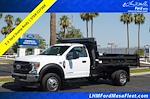 2021 Ford F-550 Regular Cab DRW 4x4, Rugby Eliminator LP Steel Dump Body #21P368 - photo 1