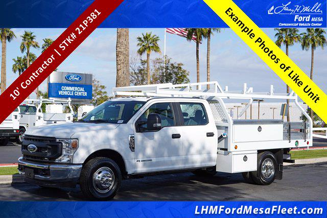 2021 Ford F-350 Crew Cab DRW 4x2, Royal Truck Body Contractor Body #21P381 - photo 1